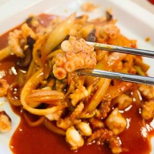 【韓国料理】業務スーパーの冷凍タコでナクチポックン