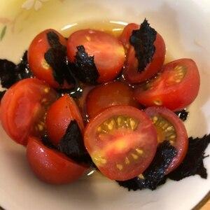 ガスも電気も使わない!ごま香るトマトの海苔和え
