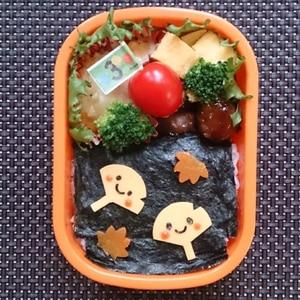 簡単キャラ弁☆秋のお弁当に! イチョウちゃん弁当♪