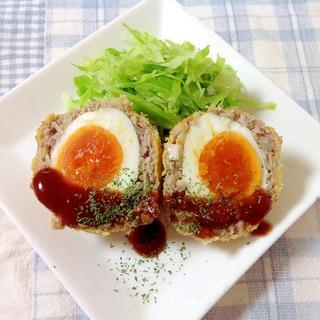 ノンフライヤーde♪スコッチエッグ(o^^o)
