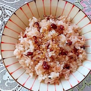 炊飯器でもち米だけの赤飯