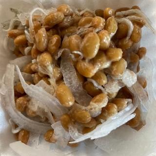 さらし新玉ねぎとちりめんじゃこの納豆