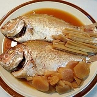 フライパンで作る!連子鯛の煮つけ