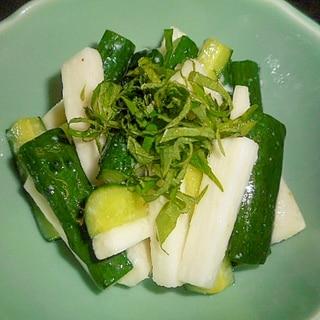 長芋・きゅうりの簡単塩麹漬け