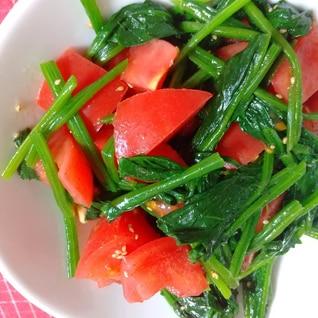 トマトとほうれん草のナムル風サラダ