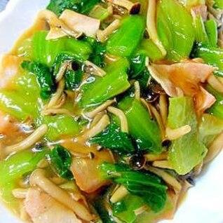 チンゲン菜とキノコ❤オイスター煮~