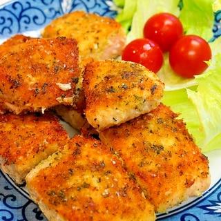 フライパンで簡単!サーモンの香草パン粉焼き
