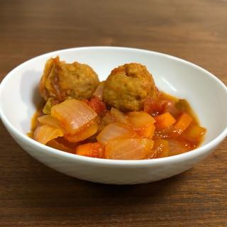 ホットクック☆冷凍鶏団子とたっぷり野菜のトマト煮