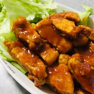 ご飯がすすむ!豚ロース肉のピリ辛ソテー♫