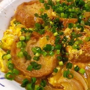 玉ねぎ仙台麩の卵とじ