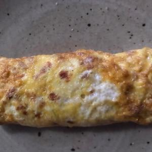キャベツとベーコン入り卵焼き
