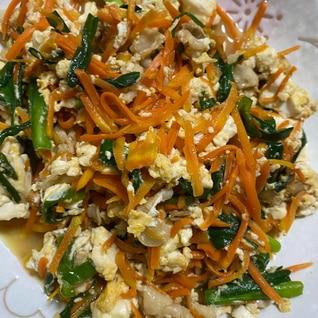 残り野菜活用♪豆腐チャンプルー