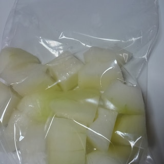 使いきれなかった 冬瓜の冷凍保存
