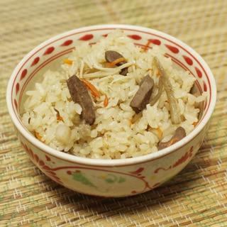 プリプリ食感と風味が乙! 「豚ハツの炊き込みご飯」