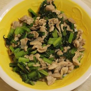 豚肉と小松菜の炒め物