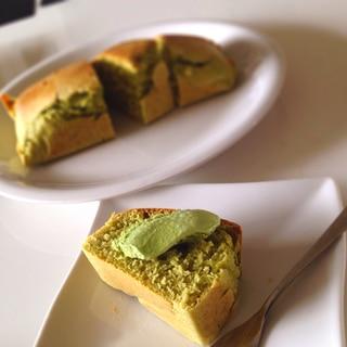 簡単!抹茶アイスでパウンドケーキ!