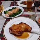 骨付鶏もも肉のジューシー照り焼き