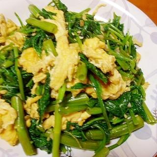 栄養満点!空芯菜と卵の中華炒め