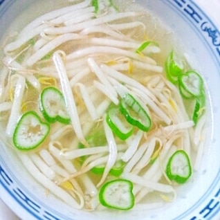 Wスープで激うま☆もやしスープ