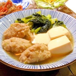 鶏つくねと豆腐の煮物