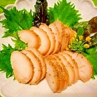 和風鶏ハム☆鶏胸肉の味噌漬け
