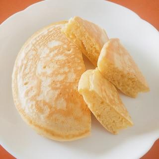 きな粉とホイップクリーム入り☆ふんわりホットケーキ