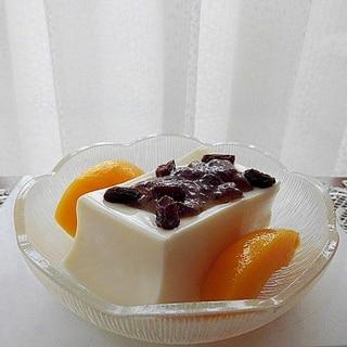 杏仁豆腐のデザート