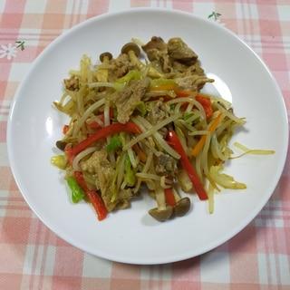 家の野菜で青椒肉絲(チンジャオロース)風~野菜炒め
