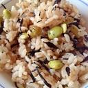 発芽大豆とひじきの炊き込みご飯