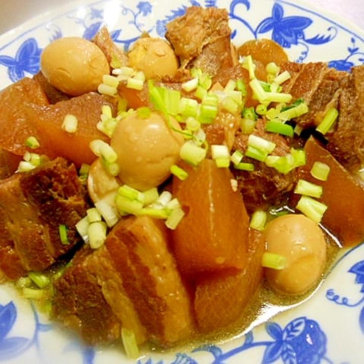 圧力 豚 バラ 角 鍋 煮