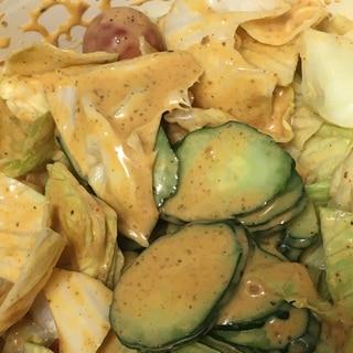 マカデミアナッツ、トマト、きゅうりのコブサラダ