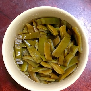 茎ワカメのポン酢漬け。