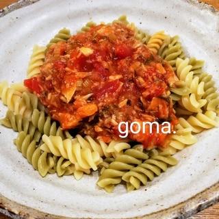 さばかんトマトパスタ