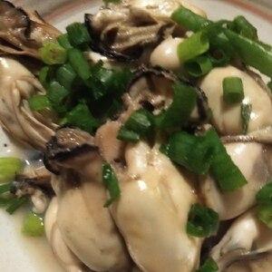 フライパンで簡単、牡蠣の酒蒸し