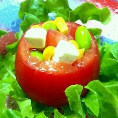 カラフル☆トマトカップサラダ