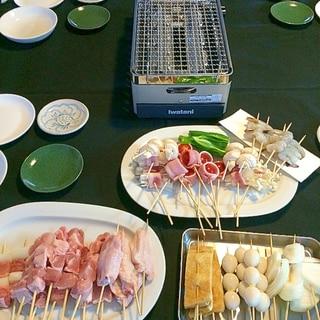 テーブルで☆焼き鳥パーティー