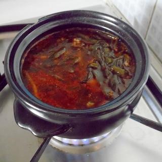 ネギキムチスープ