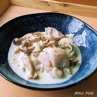 鶏もも肉のサワークリーム煮