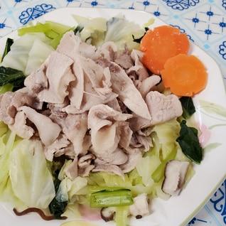 豚しゃぶと温野菜☆