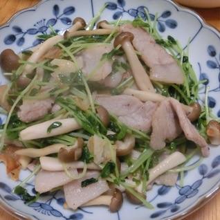 ササッと炒めて 豚肉と豆苗の中華炒め