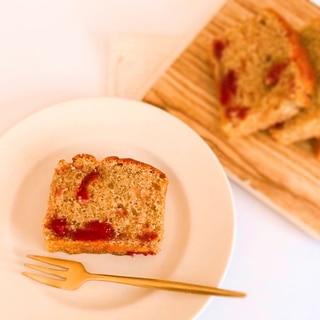 ごろっと苺ジャム入り♪紅茶のパウンドケーキ♡