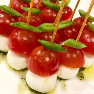 ピックごと食べれる♪プチトマトのカプレーゼ