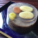 とっても簡単♪甘納豆とつぶあんで作る寒天よせ☆