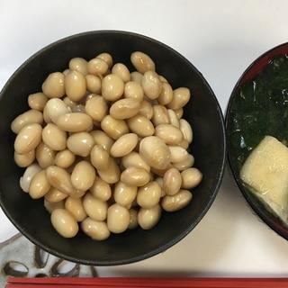 圧力鍋で!おいしい蒸し大豆
