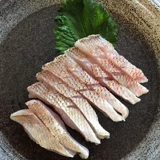 炙り甘鯛のお刺身