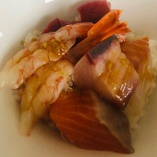 お刺身盛りで!海鮮丼