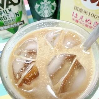 アイス☆プロテイン甘酒カフェラテ♪