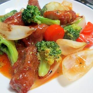 塊肉でも柔らかいコツ♪ブロッコリーの酢豚風