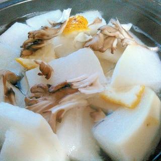 蕪と舞茸の柚子風味蒸し
