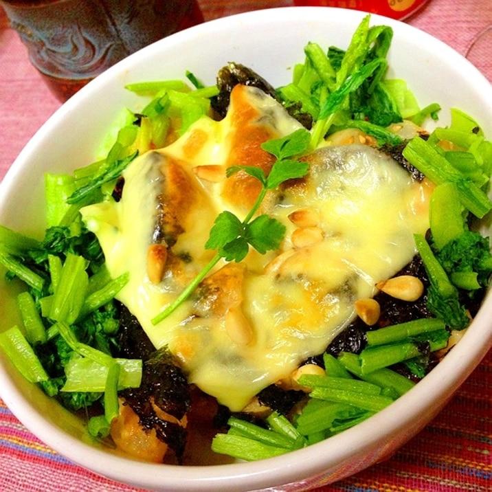 まるごと蕪と蓮根の韓国風チーズ焼き